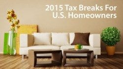 Tax deductions for U.S. homeowners include discount points, real estate taxes, and mortgage interest paid