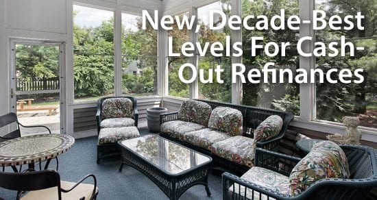 With mortgage rates low and home values up, cash-out refinancing rises to decade-best levels