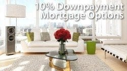 10 percent down mortgage options