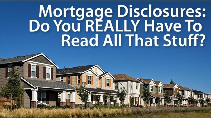 mortgage application disclosures