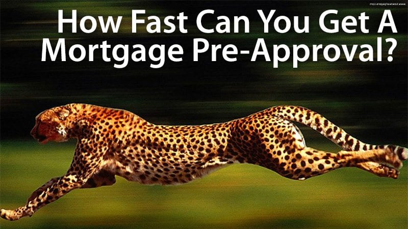 how long does it take to get a mortgage pre-approval