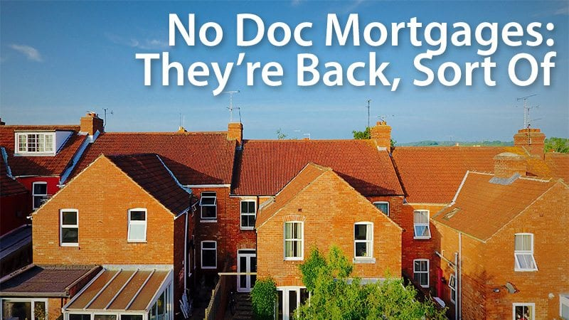 no doc mortgages