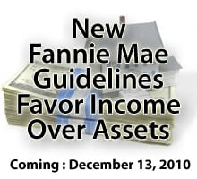 New Fannie Mae Guidelines December 13, 2010