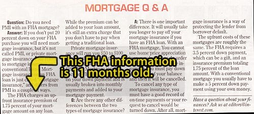 FHA MIP error in the paper
