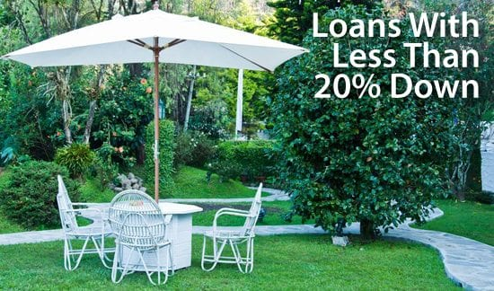 Mortgage loans which don't require 20% downpayment