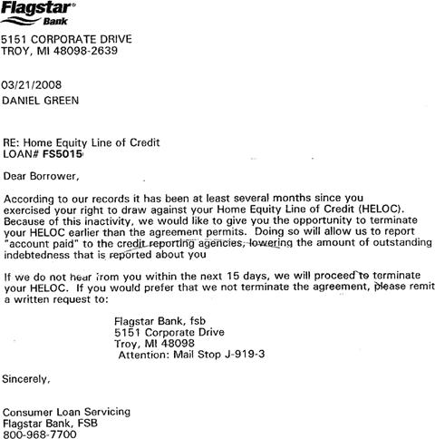 line of credit letter sample