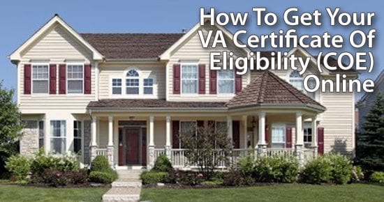 how to get your va certificate of eligibility coe
