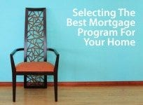 Selecting from VA loans, FHA loans, USDA loans, and Conventional Loans