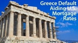 U.S. mortgage rates are affected by the Greece debt default