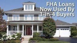 FHA loans now used by 25% of home buyers