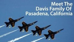 Meet the Davis Family, VA homeowners in Pasadena, California