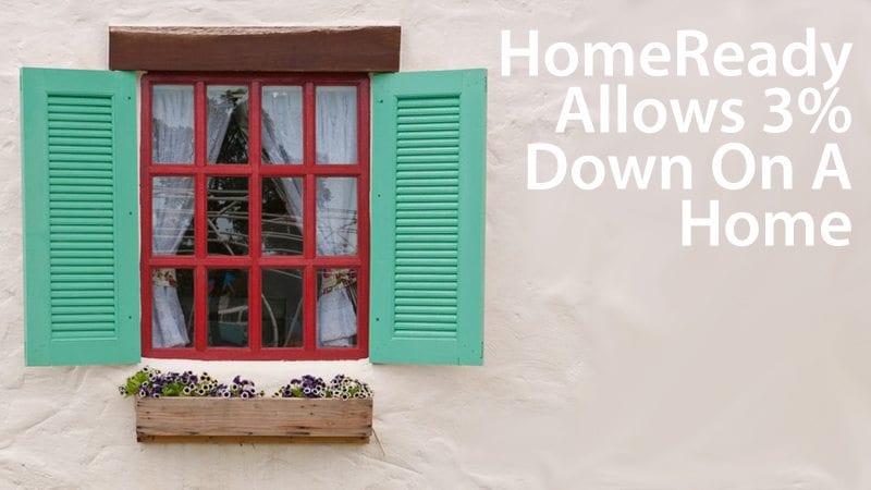 HomeReady is Fannie Mae's latest 3% down mortgage program