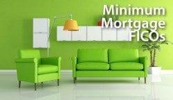 Minimum Mortgage FICO scores