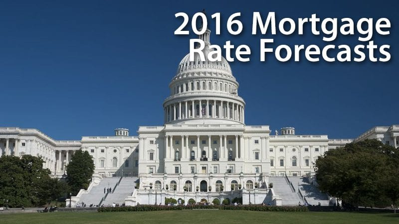 Projected home interest rates 2016