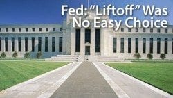 The Fed almost voted to hold the Fed Funds rate in its target range near zero percent