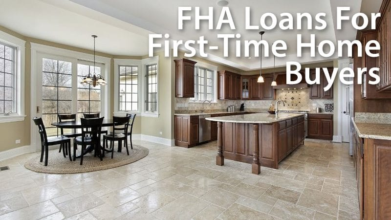 First-time home buyers can use FHA loans to purchase a home with just 3.5% down