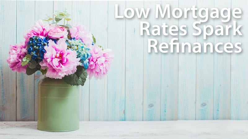 Refinance activity surging on low mortgage rates