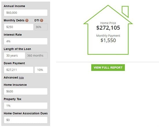 Mortgage Calculator Features