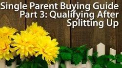single parent mortgage
