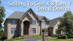 selling a house to gen x and gen y