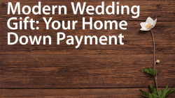 down payment wedding gift