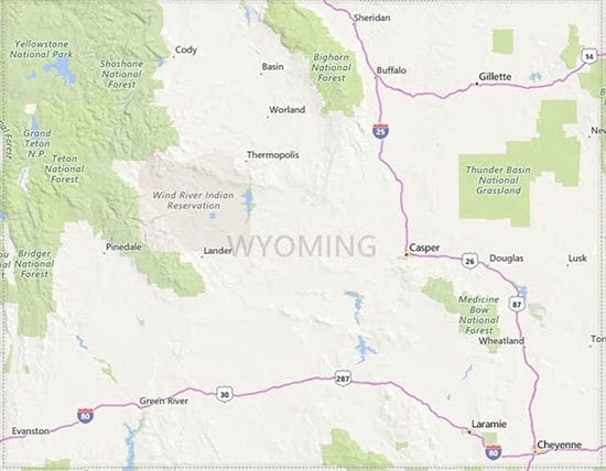 Wyoming USDA Eligibility Map
