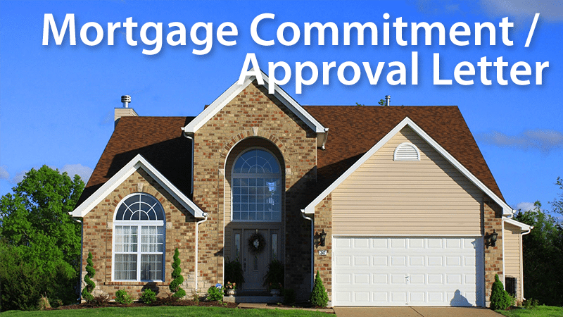 mortgage commitment letter