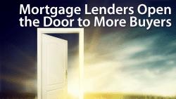 mortgage lenders open door