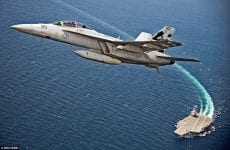 USS Ford fighter jet