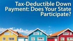 state down payment assistance tax deduction