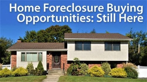 10 Years after the housing bust: today's home foreclosure opportunities