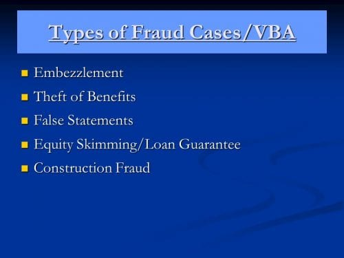 VA refinance fraud and scams