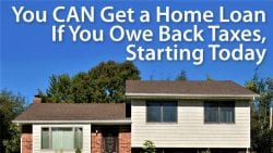 mortgage with back taxes
