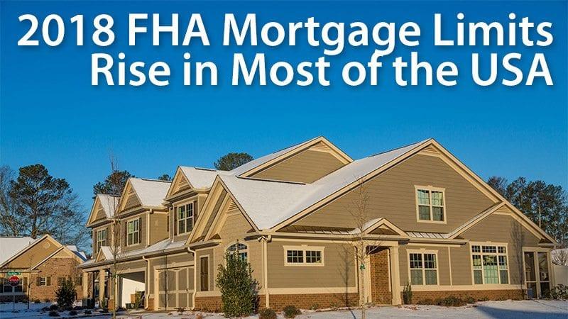 2018 FHA loan limits