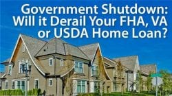 government shutdown and mortgages
