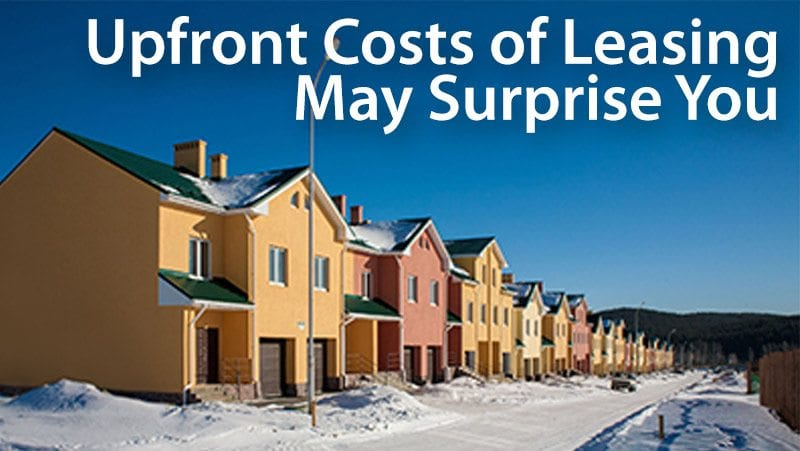 lease agreement upfront costs