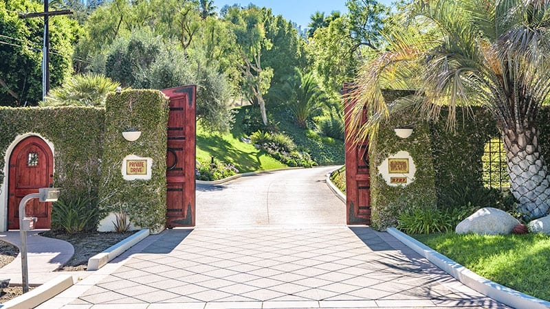 Cher Mansion Driveway and Gate