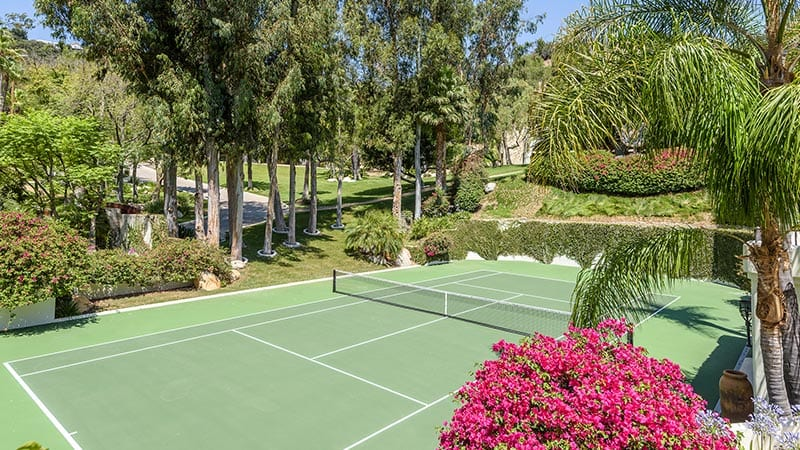 Cher Mansion Tennis Court