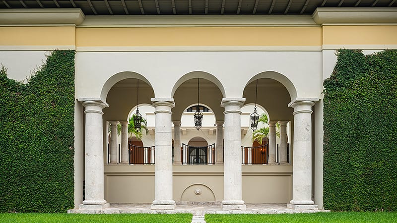 Miami Hip Hop Mansion Columns