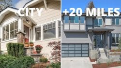 1 million home in the city vs 20 miles away