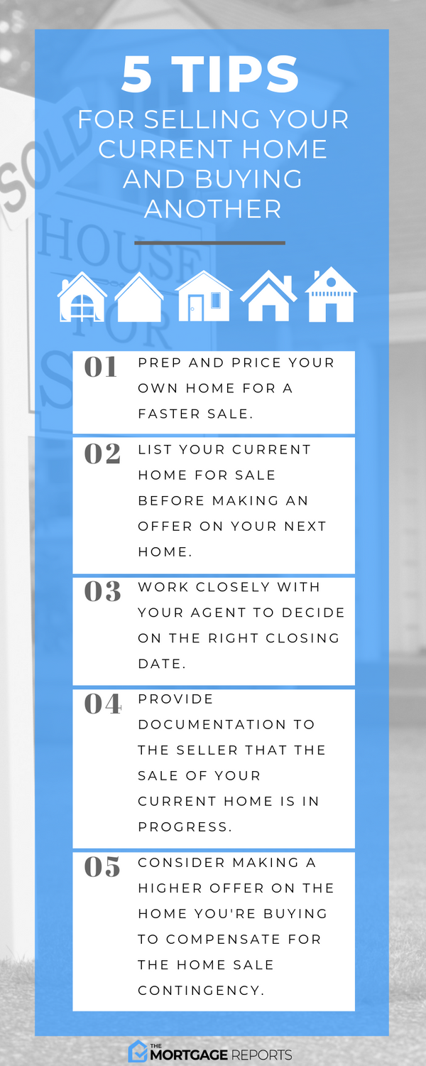 5 Tips When Selling Your Home To Buy Another - Infographic - The Mortgage Reports