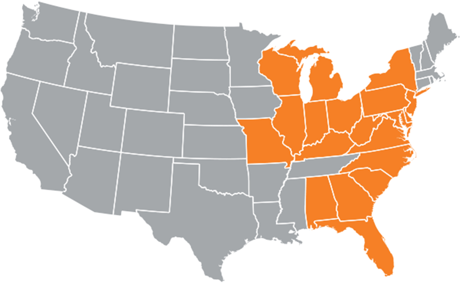 PNC bank locations across the U.S.