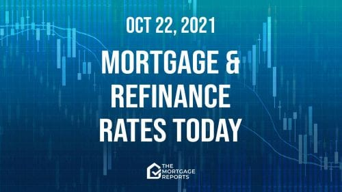 Mortgage and refinance rates today, Oct. 22, 2021